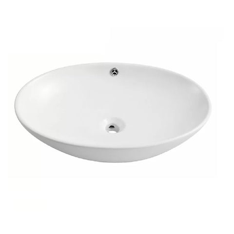 Ellen Oval Above Counter Basin White ELL01 (4471399612476)