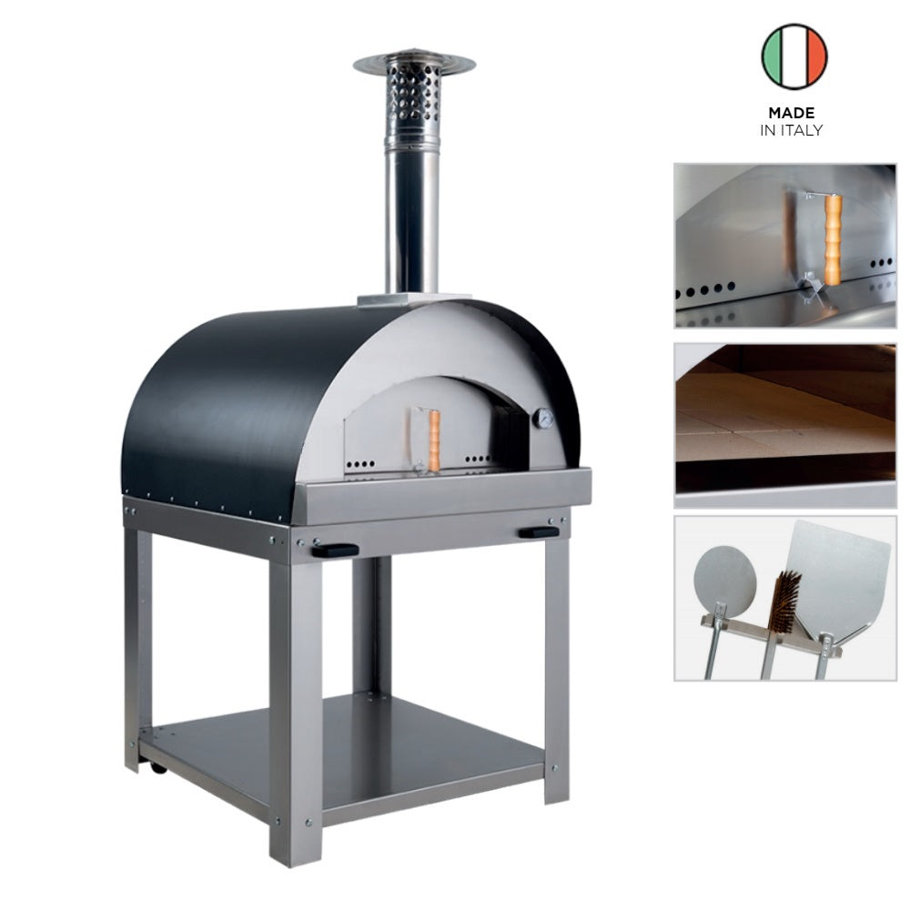 La Diabla Pizza (Wood Fire) Package; Oven + Trolley + FREE Accessories Set Stainless Steel DIABLA (4655843999804)