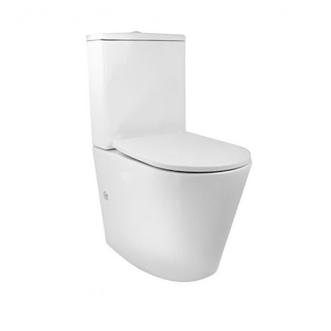 Decina Renee Rimless Back to Wall Toilet Suite White RETSWFS (4433125572668)