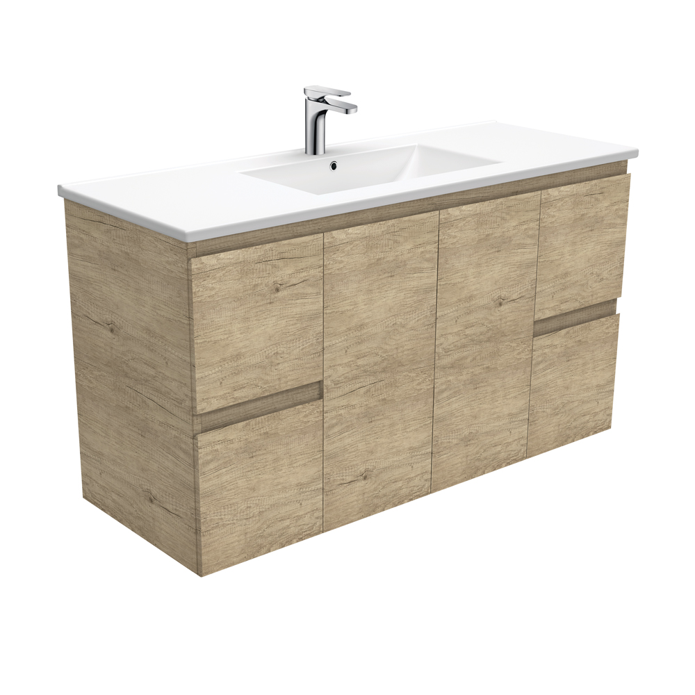 Fienza Dolce Edge Scandi Oak 1200mm Vanity Wall Hung Oak TCL120S (4505112117308)