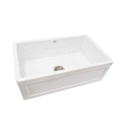 1901 Farmhouse Sink 755mm Fireclay White (2530525839420)