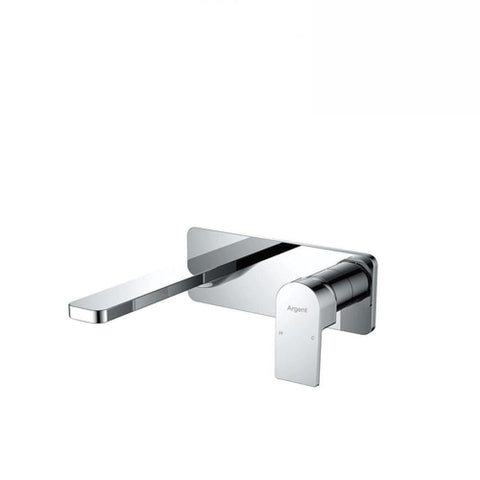 Argent Evoke Square Wall Mounted Basin/ Bath Mixer Chrome (4129885552700)
