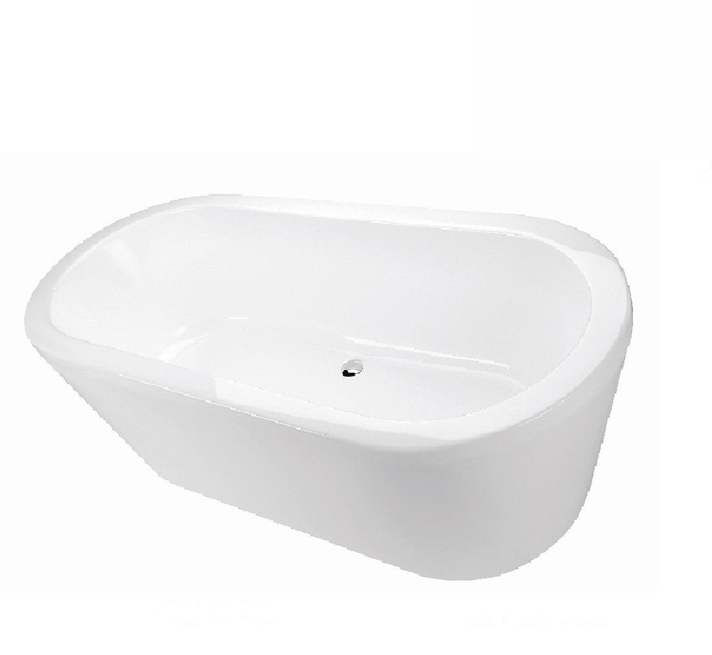 Decina Cool Freestanding Bath 1500x750x580mm - White (2530527510588)