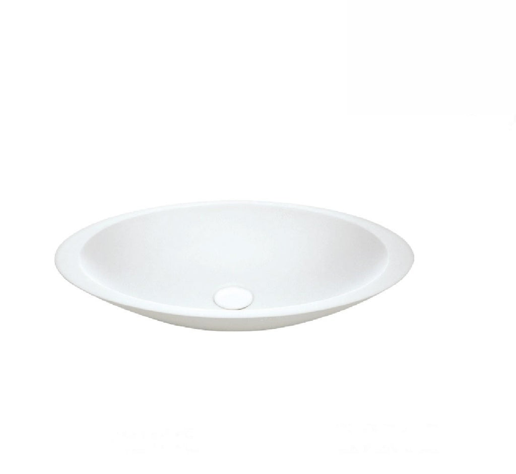 Fienza Above Counter Solid Surface Basin Bahama Matte White (2530540224572)