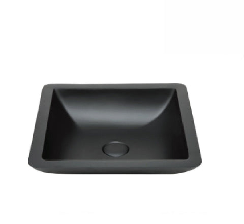 Fienza Above Counter Solid Surface Basin Classique 420 Matte Black (2530540388412)