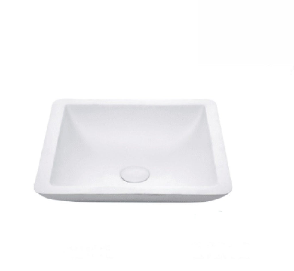 Fienza Above Counter Solid Surface Basin Classique 420 Matte White (2530540355644)