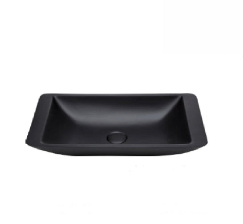 Fienza Above Counter Solid Surface Basin Classique 600 Matte Black (2530540453948)
