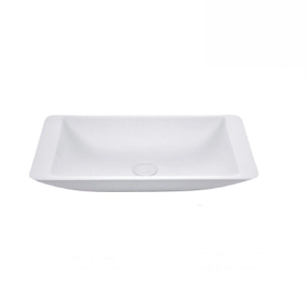 Fienza Above Counter Solid Surface Basin Classique 600 Matte White (2530540421180)