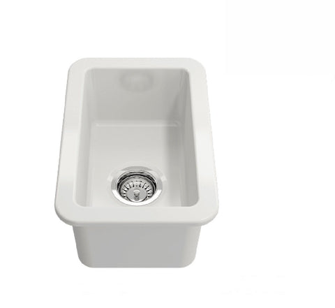 Turner Hastings Cuisine Single Bowl Sink 30 x 46 White (2530554282044)