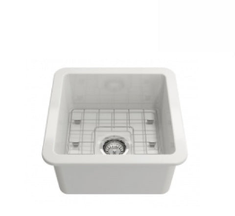 Turner Hastings Butler Cuisine Single Bowl Sink 46 x 46 White (2530554118204)