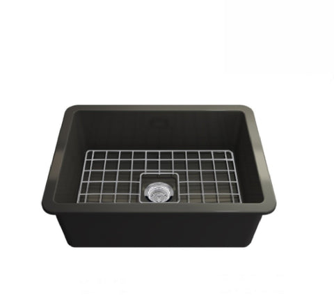 Turner Hastings Butler Cuisine Single Bowl Sink 68 x 48 Matte Black (2530554150972)