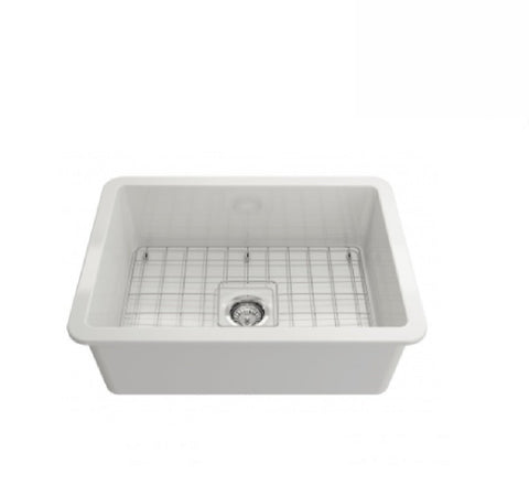 Turner Hastings Butler Cuisine Single Bowl Sink 68 x 48 White (2530554052668)