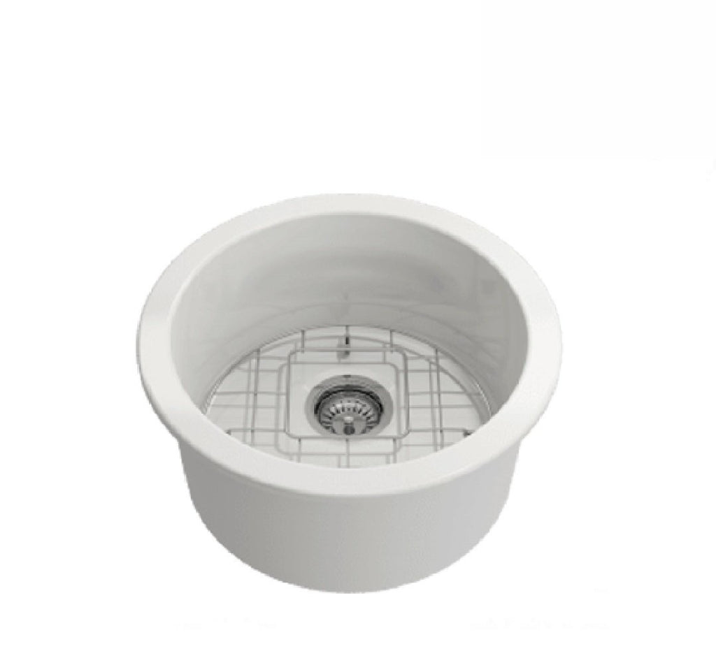 Turner Hastings Cuisine Round Bowl Sink 47 White (2530554249276)