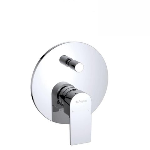 Argent Evoke Round Shower Diverter Mixer Chrome