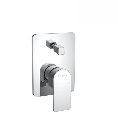 Argent Evoke Square Shower Diverter Mixer Chrome