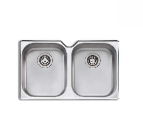 Oliveri Diaz Double Bowl Undermount Sink Stainless Steel (2530529378364)