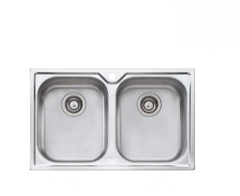 Oliveri Diaz Double Bowl Topmount Sink (2530529607740)