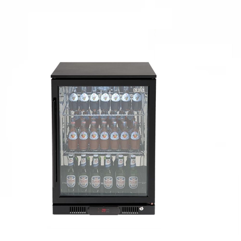 Euro Appliances Beverage Cooler 138L Single Glass Door (RH) Black (4132878680124)