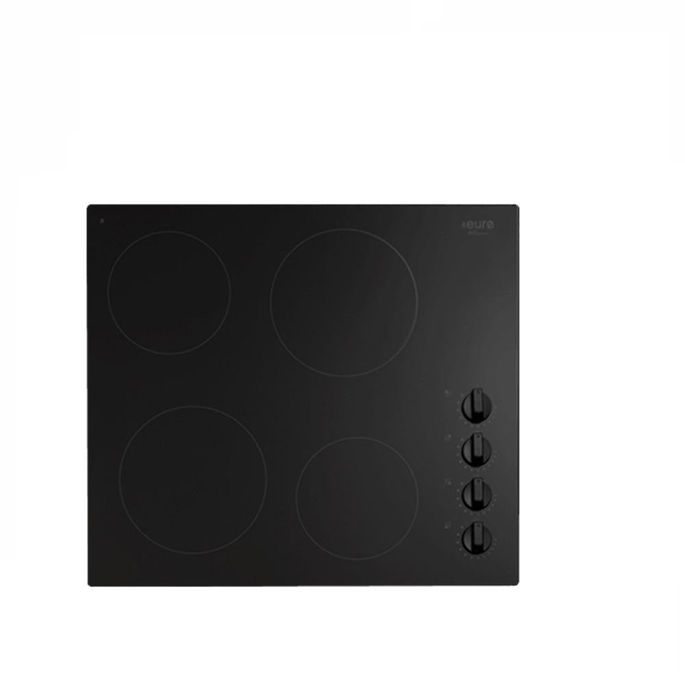 Euro Cooktop (Electric) 600mm Black Glass ECT600CB (4127245074492)