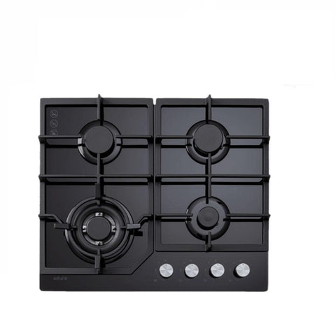Euro Cooktop (Gas) 600mm Black Glass ECT600GBK (4127245140028)