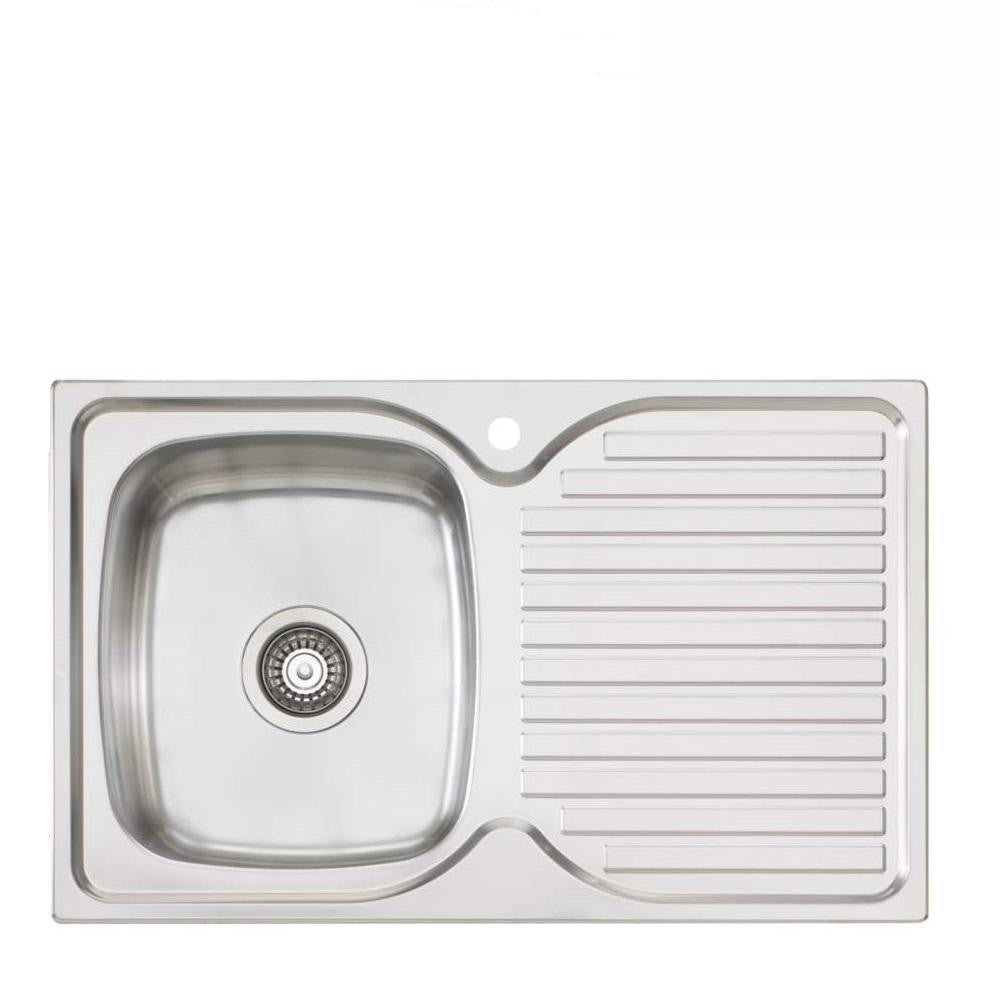 Oliveri Endeavour Sink 770mm Top Mount Left Hand Bowl Stainless Steel (4129888862268)
