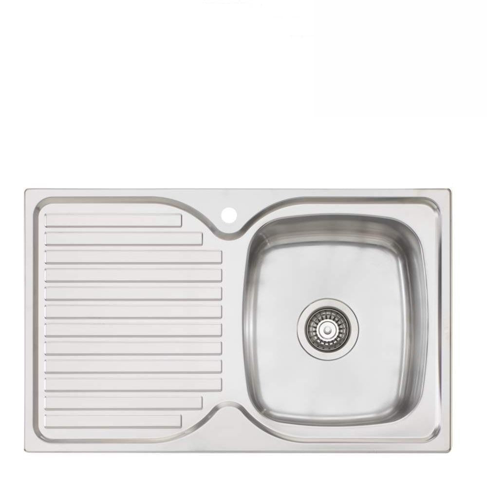 Oliveri Endeavour Sink 770mm Top Mount Right Hand Bowl Stainless Steel (4129888895036)