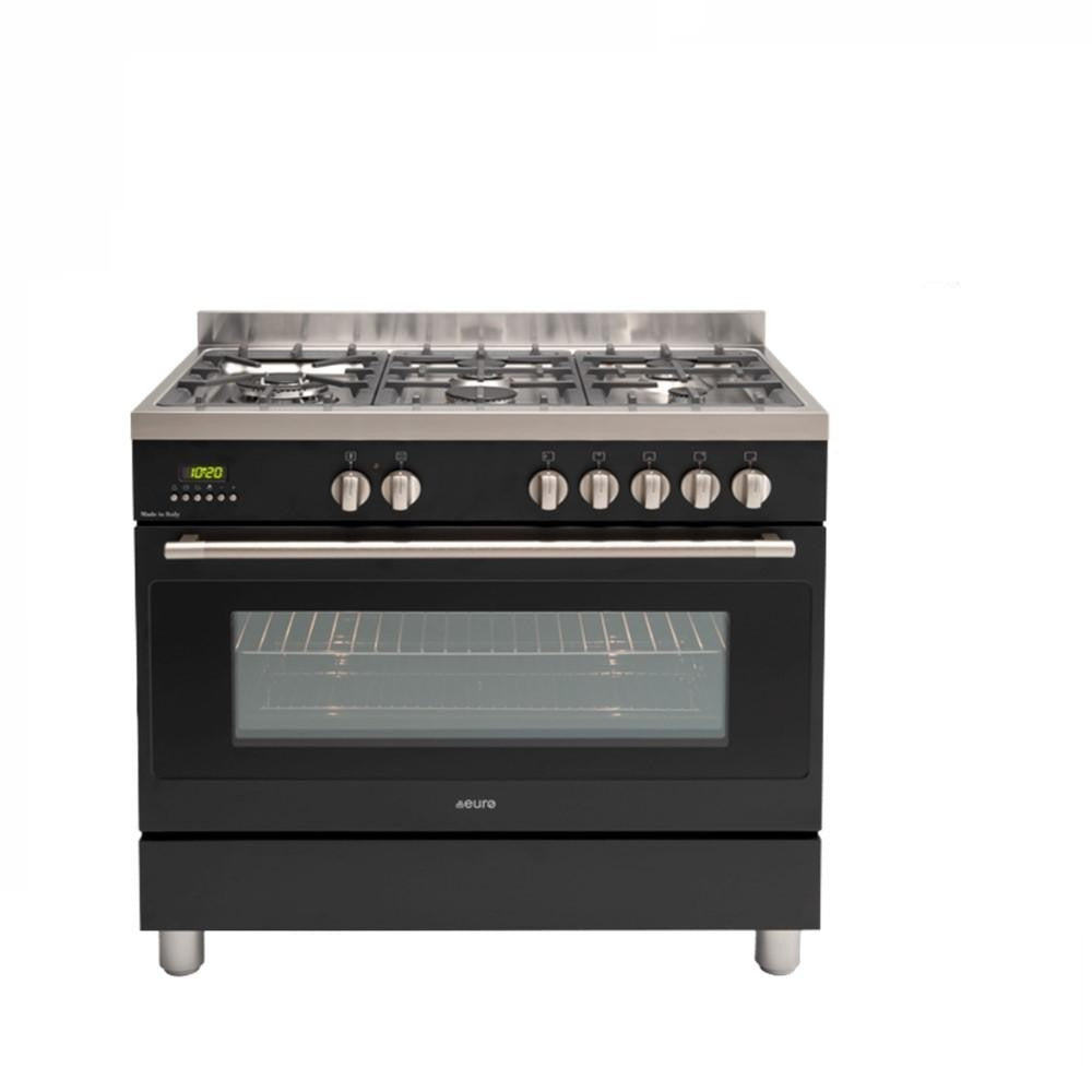 Euro Appliances Freestanding Oven 90cm Dual Black (4132877631548)