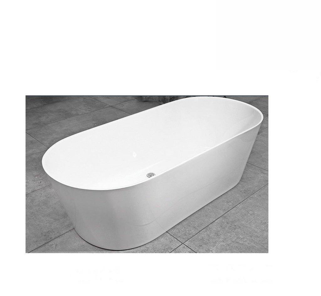 Decina Elinea Freestanding Bath 1500x750x580mm - White (2530527576124)