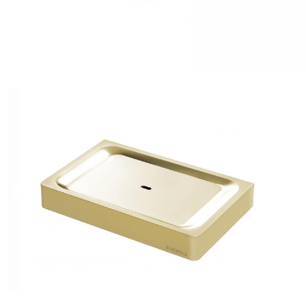 Phoenix Gloss Soap Dish Brushed Gold (4129896038460)