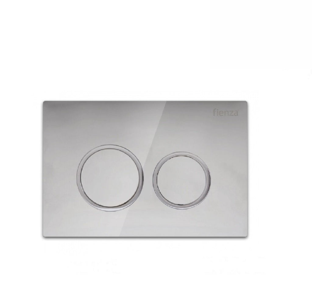 Fienza Flush Plate Chrome Round Button (2530549203004)