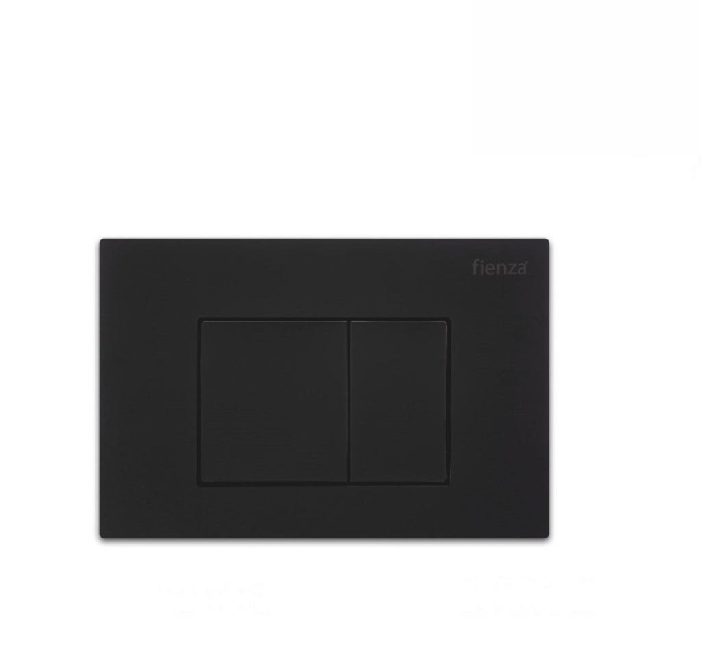 Fienza Flush Plate Matte Black Square Button