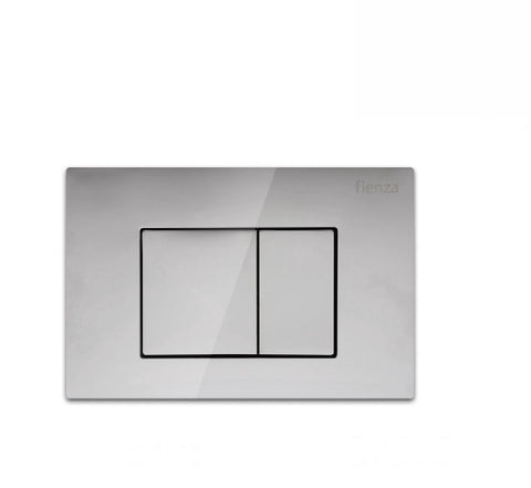 Fienza Flush Plate Chrome Square Button (2530549235772)