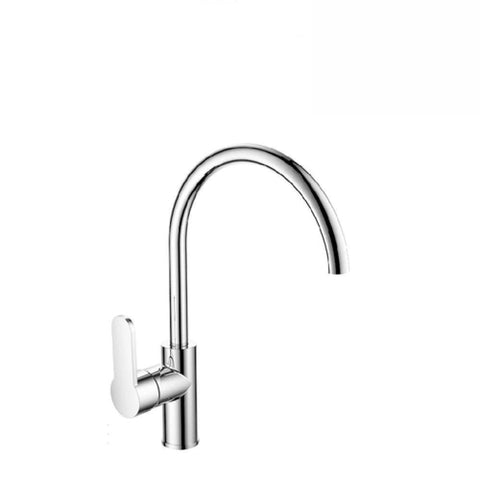 Argent Mirra Gooseneck Kitchen Mixer Chrome