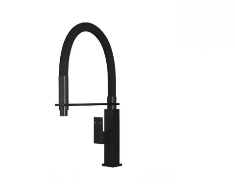 Meir Kitchen Mixer Square MK05 Matte Black (2530550448188)