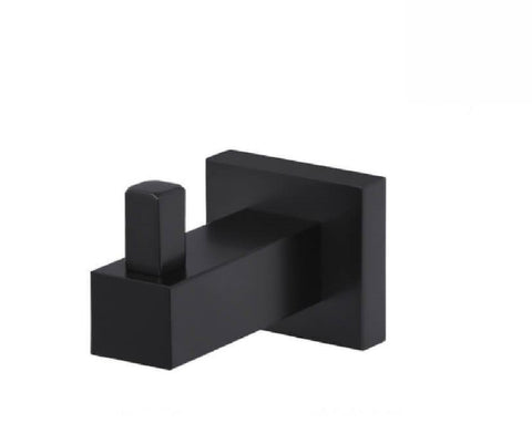 Meir Robe Hook Square MR03 Matte Black (2530552610876)