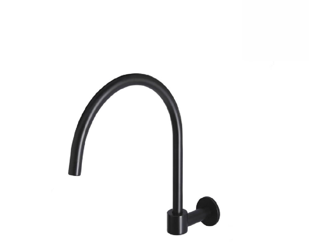 Meir Wall Swivel Spout Round MS07 Matte Black (2530553233468)