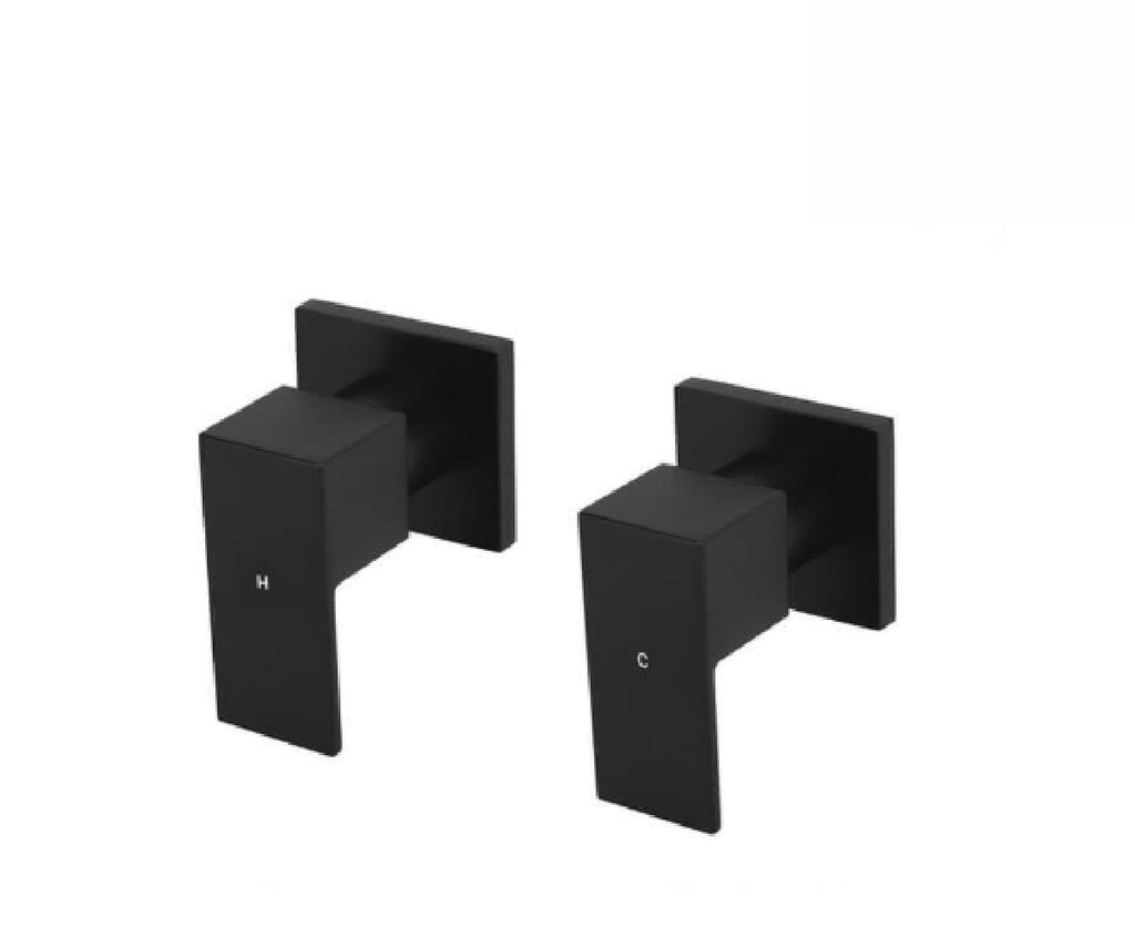 Meir Shower/ Bath Wall Top Assembly Square MW04 Matte Black (2530551005244)