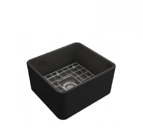 Turner Hastings Butler Novi Single Bowl Sink 50 x 46 Matte Black (2530553823292)