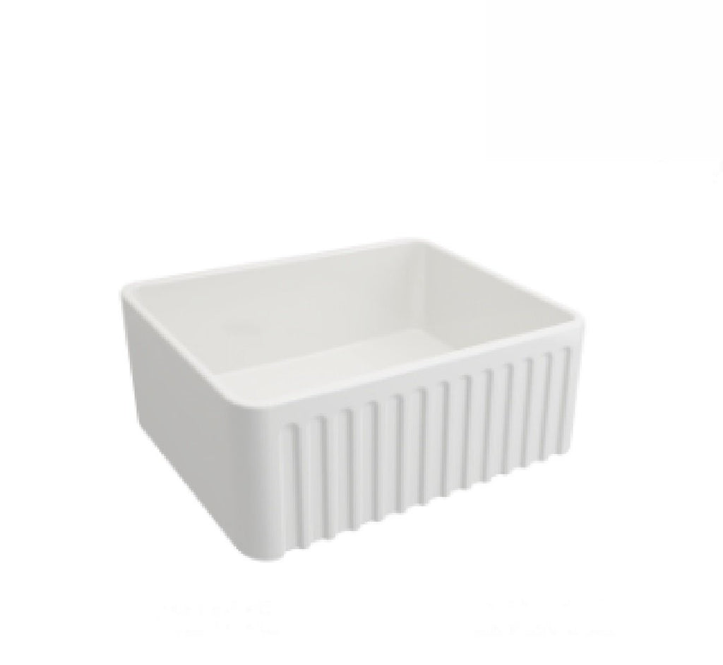Turner Hastings Butler Novi Single Bowl Sink 60 x 46 White (2530553659452)
