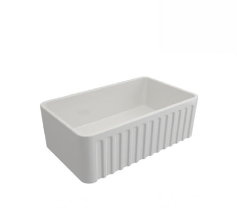 Turner Hastings Butler Novi Single Bowl Sink 75 x 46 White (2530553528380)