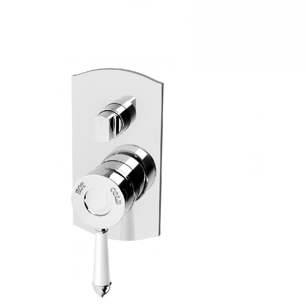 Phoenix Nostalgia Shower/ Bath Diverter Mixer Chrome/ White (4129900134460)