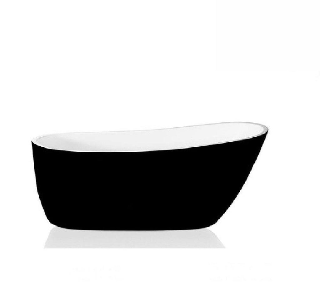 Decina Piccolo Freestanding Bath 1500x740x700mm - Black/ White (2530527805500)