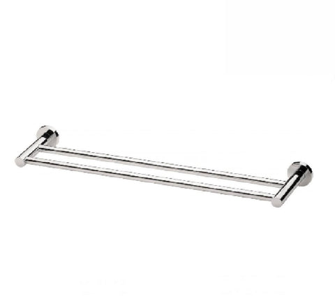 Phoenix Radii Double Towel Rail 600mm Round Plate Chrome (2530534555708)