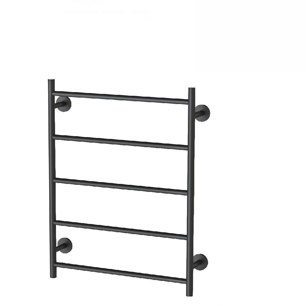 Phoenix Radii Towel Ladder 550 x 740mm Round Plate Matte Black (4129901150268)
