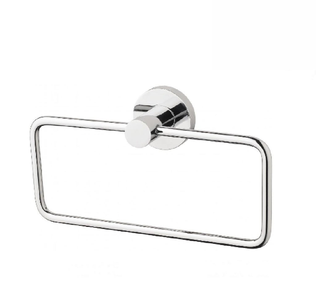 Phoenix Radii Hand Towel Holder Round Plate Chrome (2530534654012)
