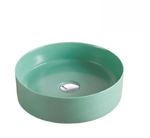 Fienza Above Counter Ceramic Reba Basin 350mm Tiffany Green (2530540159036)