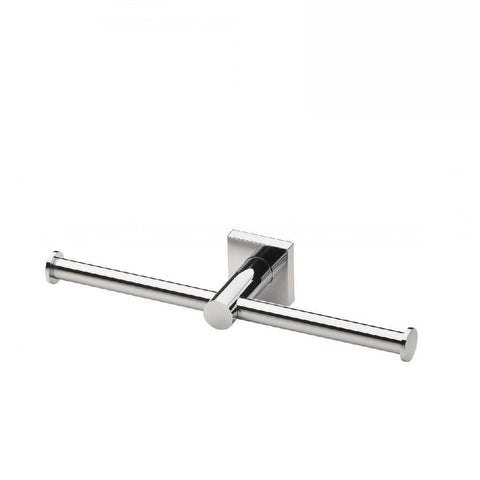 Phoenix Radii Double Toilet Roll Holder Square Plate Chrome (4129903706172)
