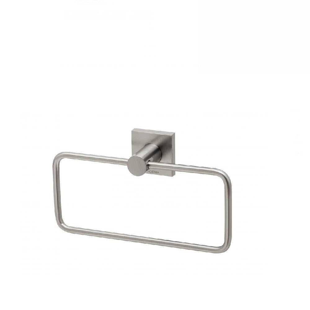 Phoenix Radii Hand Towel Holder Square Plate Brushed Nickel (4129903804476)