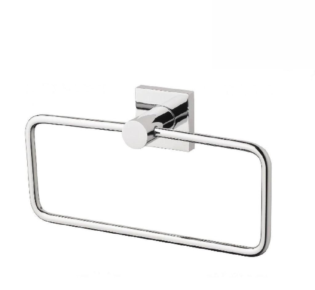 Phoenix Radii Hand Towel Holder Square Plate Chrome (2530534916156)