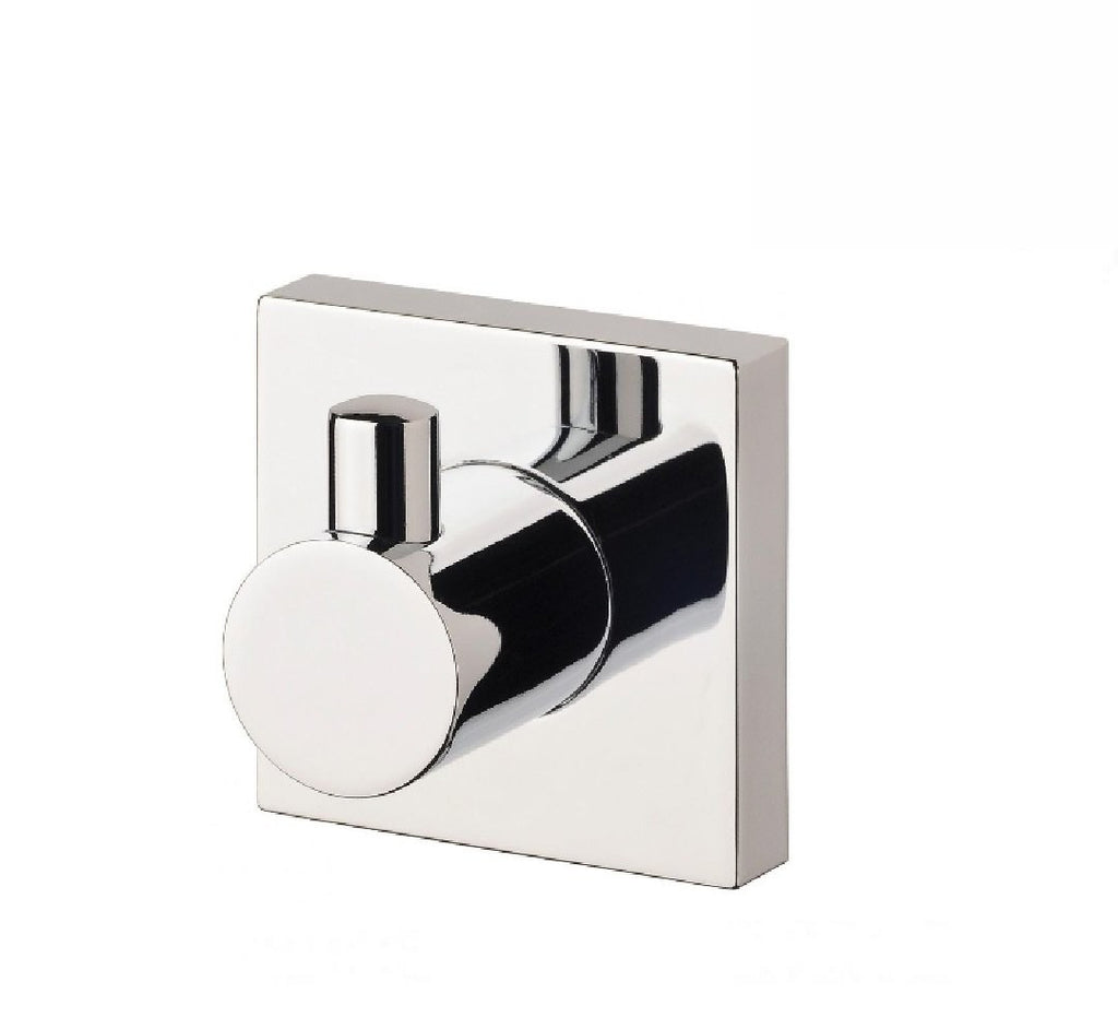 Phoenix Radii Robe Hook Square Plate Chrome (2530534948924)